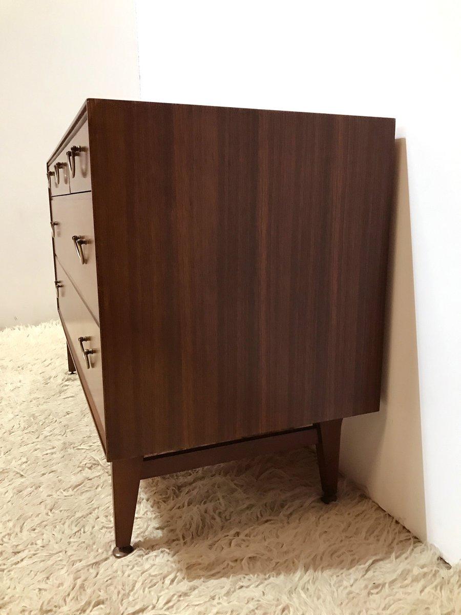 niedrige kommode aus dunklem holz von meredew bei pamono. Black Bedroom Furniture Sets. Home Design Ideas