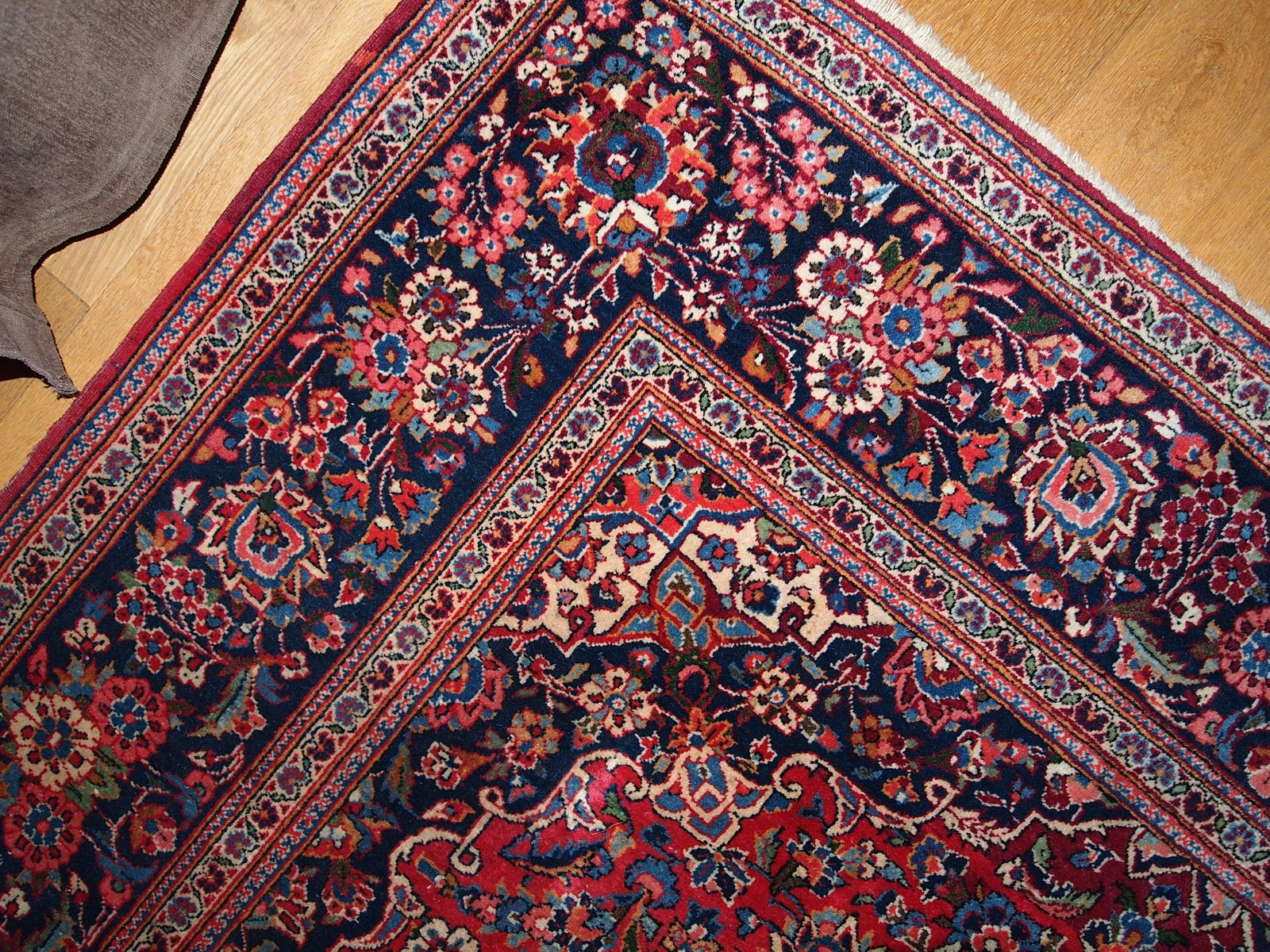 Vintage Persian Handmade Kashan Rug, 1920s