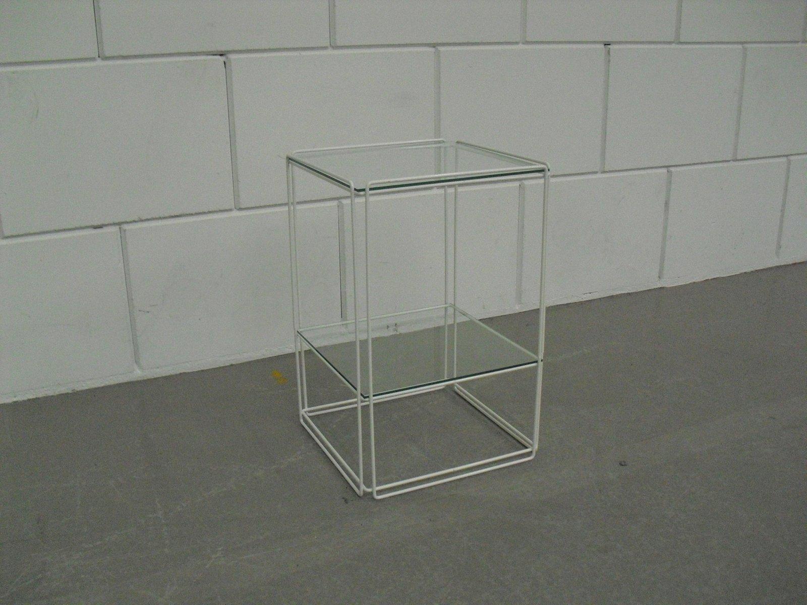 modell isocele beistelltisch mit ablage von max sauze 1970er bei pamono kaufen. Black Bedroom Furniture Sets. Home Design Ideas