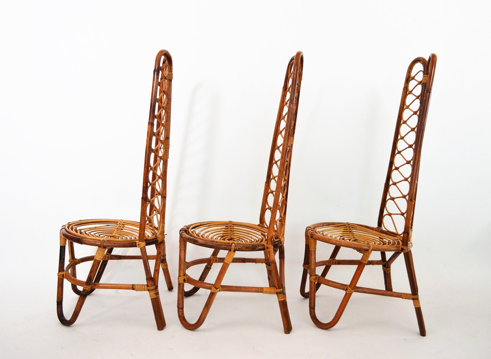 Mid Century Bamboo Chairs 1975 Set of 6 for sale at Pamono