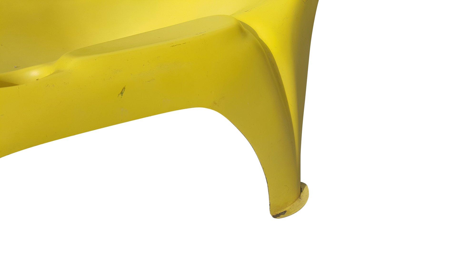 Chaise longue de piscine mid century moderne jaune en for Chaise longue de piscine