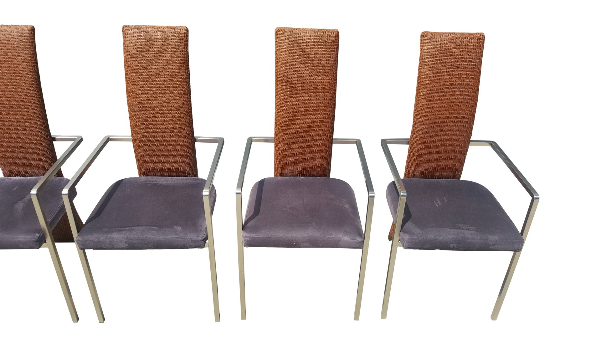 Mid Century Modern Dining Chairs from Belgochrom Set of 6 for