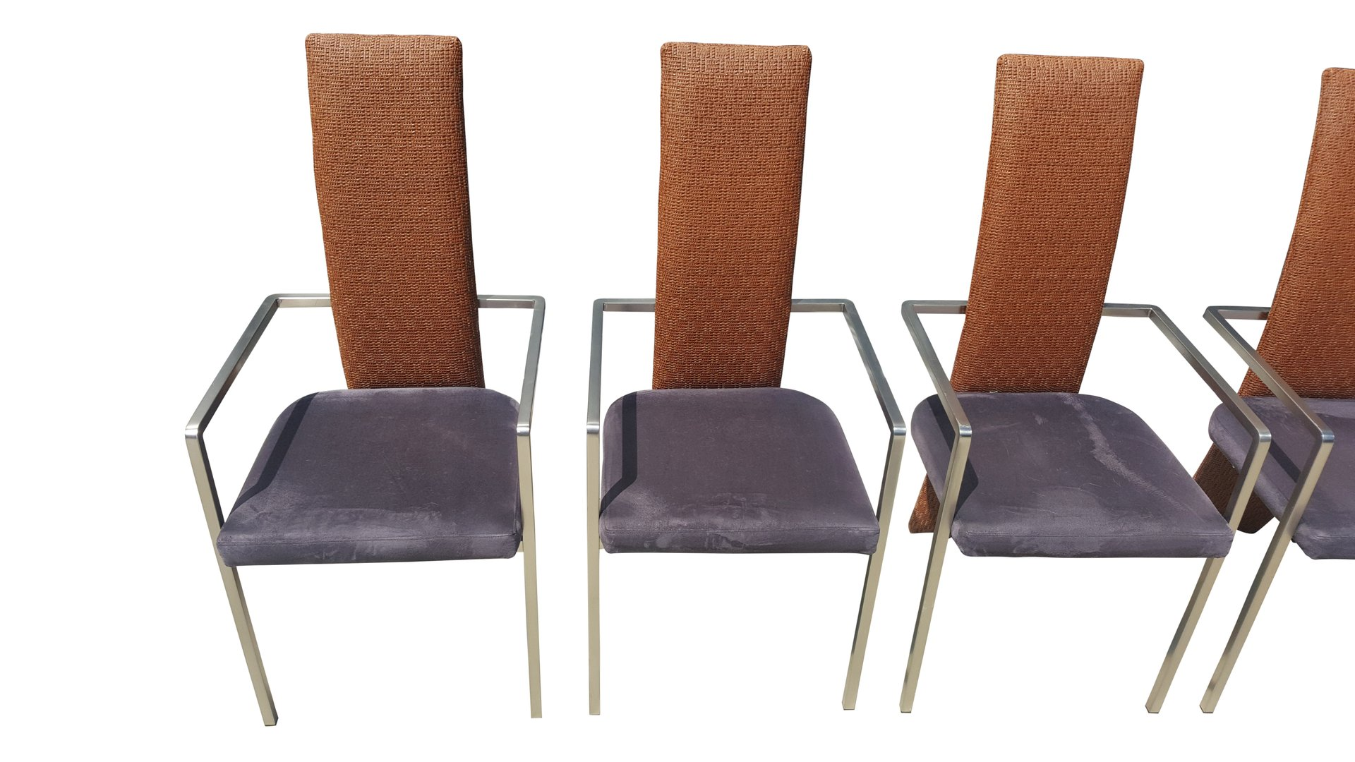 Mid Century Modern Dining Chairs From Belgochrom Set Of 6