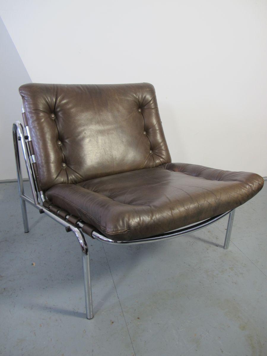 vintage leder chrom kyoto stuhl von martin visser f r 39 t. Black Bedroom Furniture Sets. Home Design Ideas