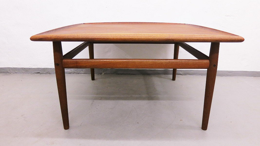 Large Danish Teak Coffee Table By Grete Jalk For Glostrup For Sale At Pamono
