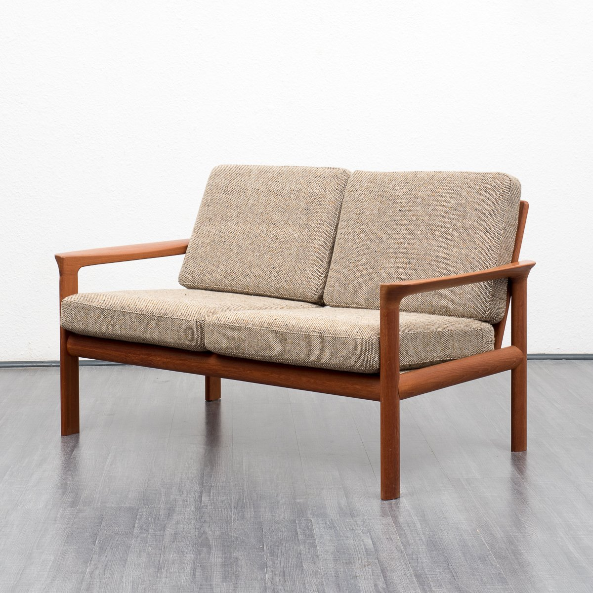 Mid century danish two seater sofa with stool by sven for Sofa stool design