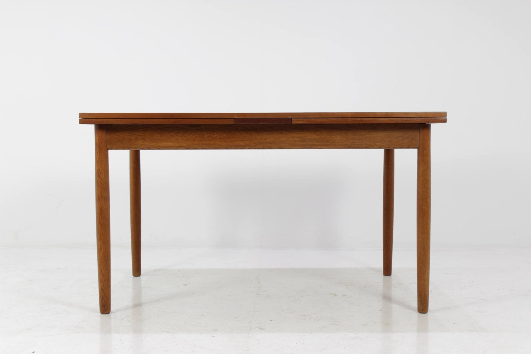 Mid Century Danish Teak Dining Table With Extension Leaves 1960s For Sale At