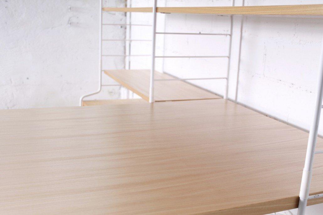 wei es regal mit esstisch und hairpinf en von whb 1950er. Black Bedroom Furniture Sets. Home Design Ideas