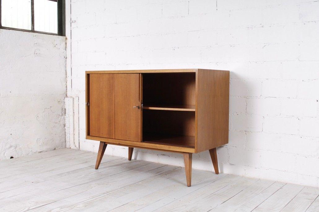 kleines sideboard von franz ehrlich f r veb deutsche. Black Bedroom Furniture Sets. Home Design Ideas