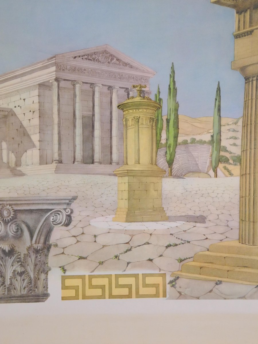 Tableau mural d cole vintage de l architecture grecque for Architecture grec