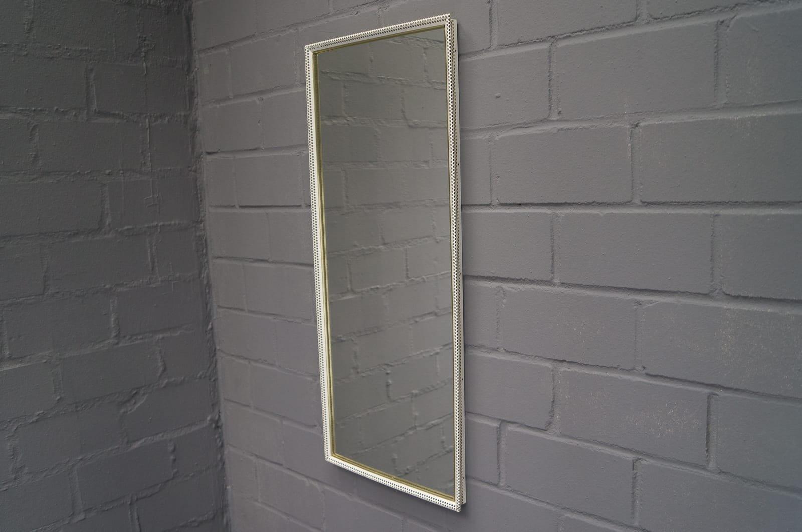 Grand miroir mural rectangulaire en m tal perfor peint de - Grand miroir mural rectangulaire ...