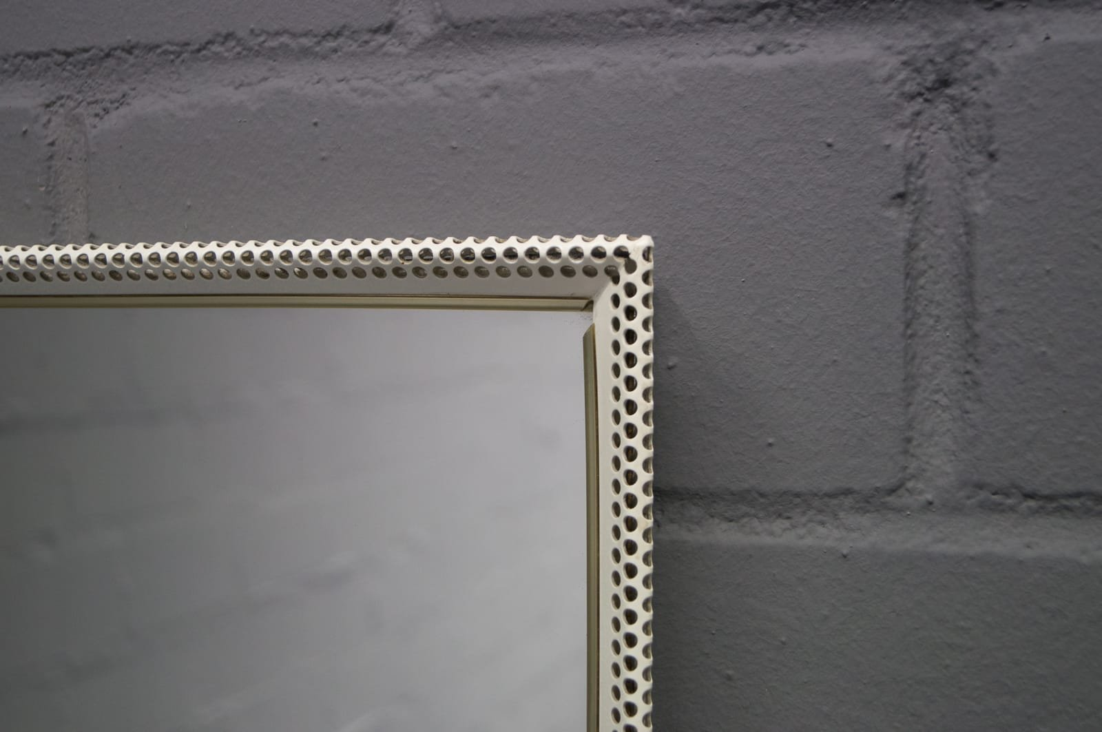 Large Rectangular Wall Mirror large rectangular wall mirror in painted perforated metal from