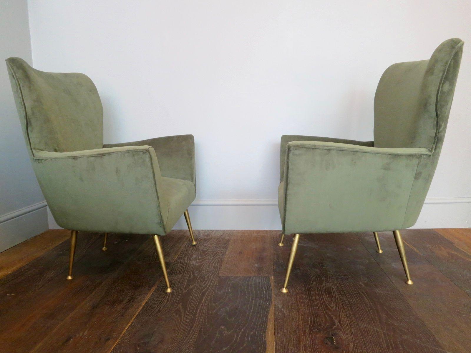 mid century italian armchairs set of 2 for sale at pamono