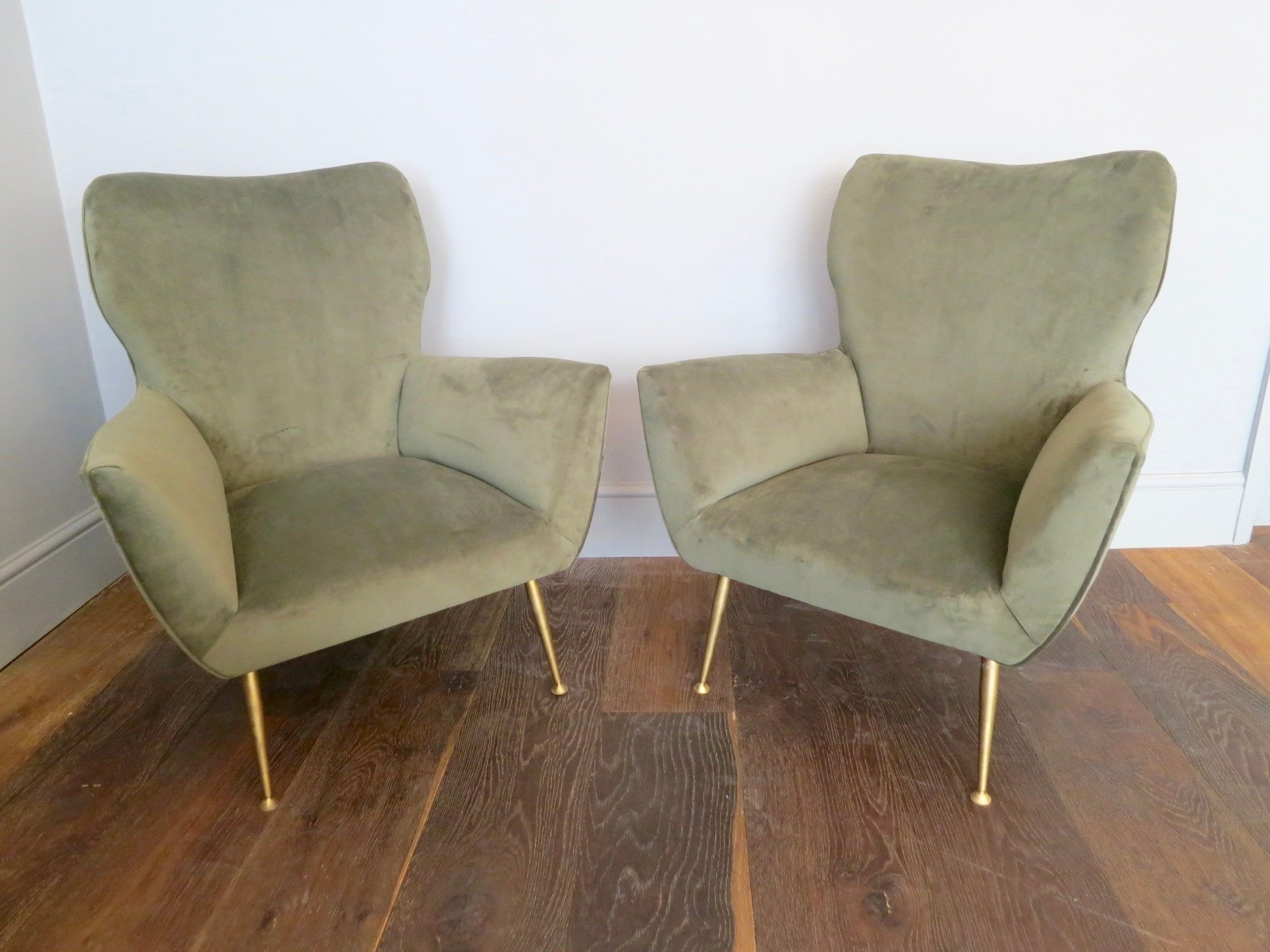 mid century italian armchairs set of 2 for sale at pamono