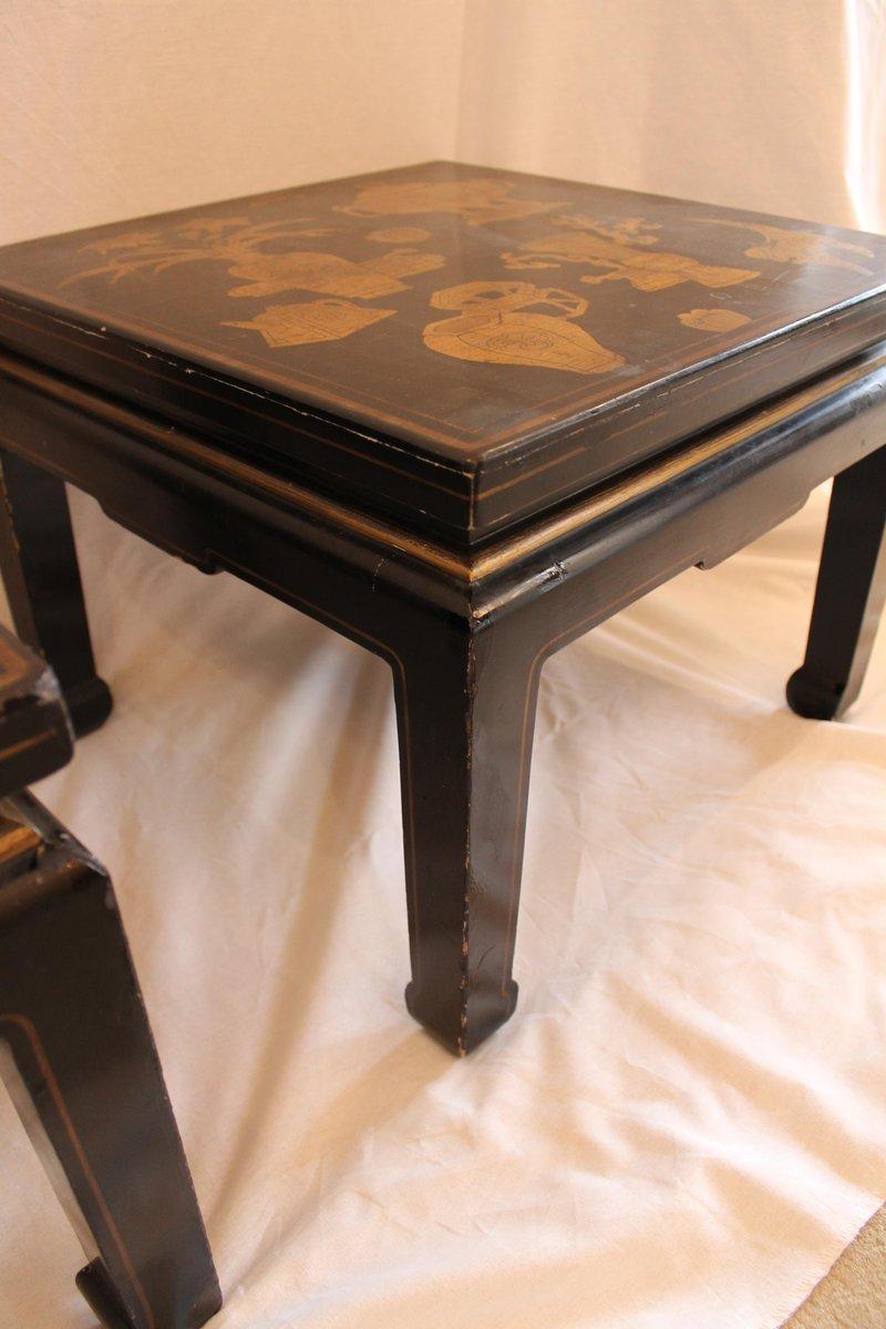 tables d appoint vintage chine 1950s set de 2 en vente. Black Bedroom Furniture Sets. Home Design Ideas