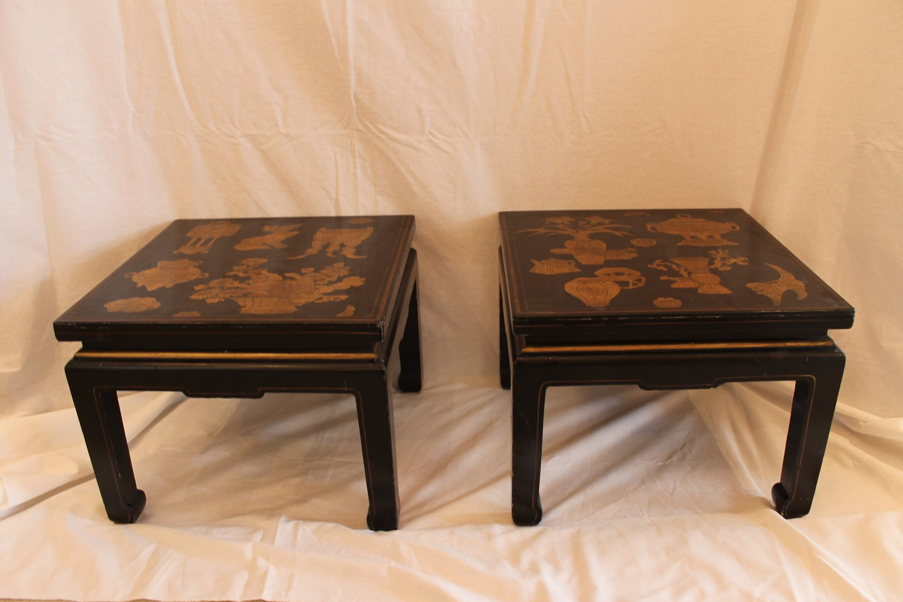Vintage chinese side tables set of 2 for sale at pamono for Antique chinese tables for sale