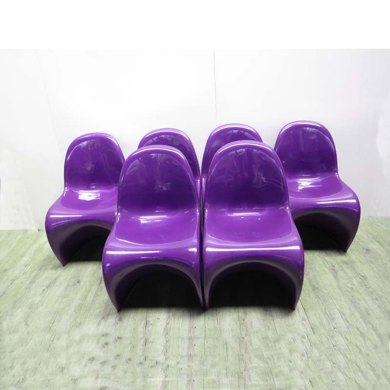 Purple Panton Chairs By Verner Panton For Herman Miller, 1976, Set Of 6