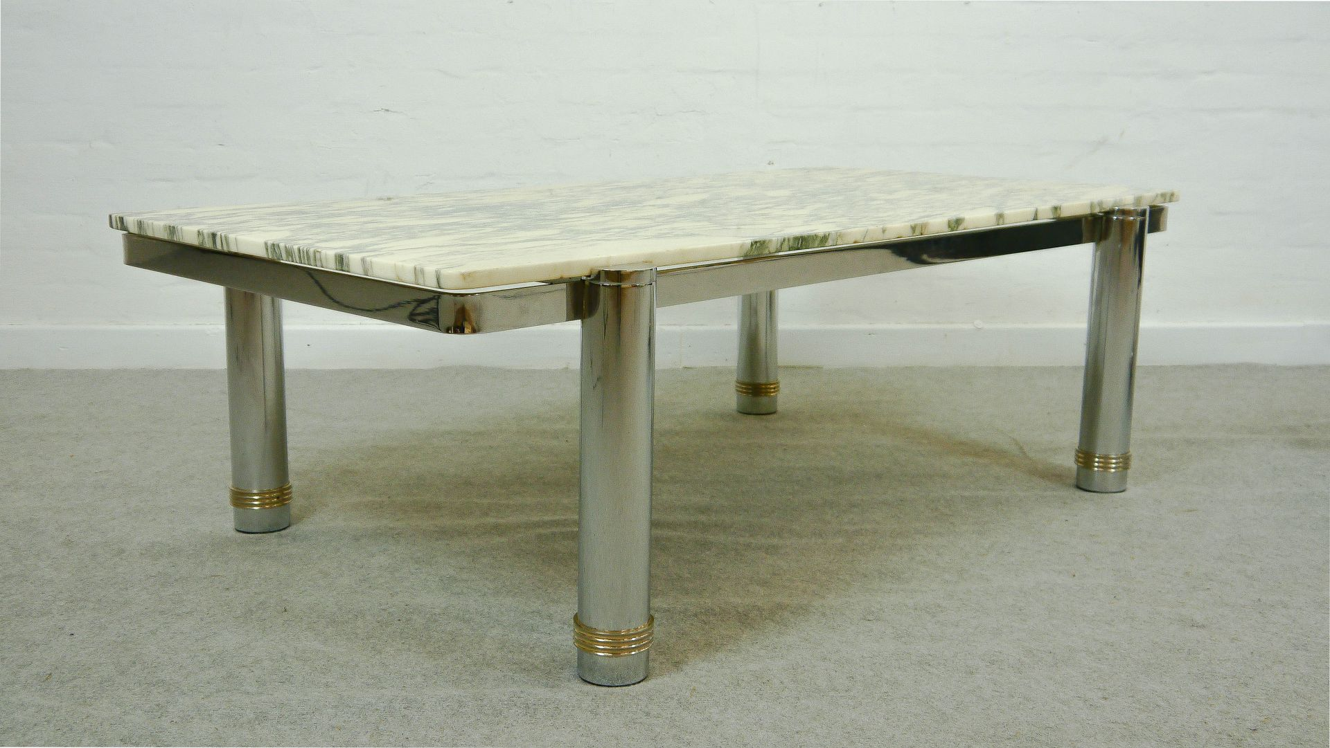 Vintage marble top coffee table 1970s for sale at pamono for Marble top coffee table