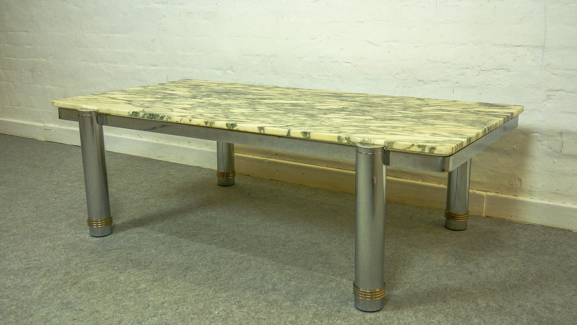Vintage marble top coffee table 1970s for sale at pamono for Stone topped coffee tables