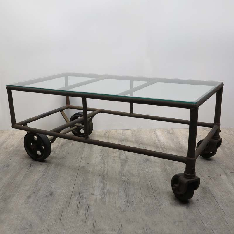 vintage industrial cart coffee table for sale at pamono