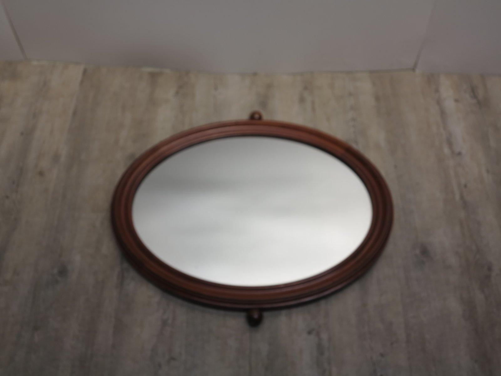 vintage jugendstil spiegel mit holzrahmen bei pamono kaufen. Black Bedroom Furniture Sets. Home Design Ideas