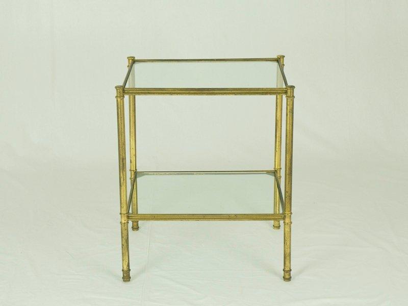 italienische messing glas beistelltische 1960er 2er. Black Bedroom Furniture Sets. Home Design Ideas
