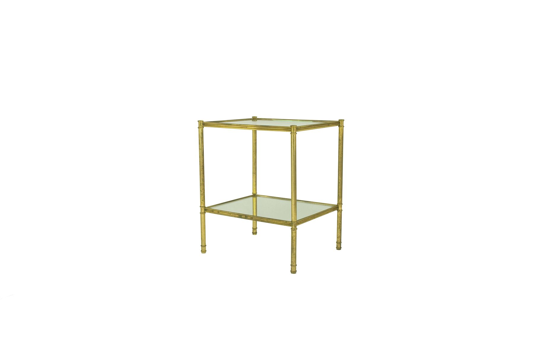 italian brass  glass side tables s set of  for sale at pamono - italian brass  glass side tables s set of