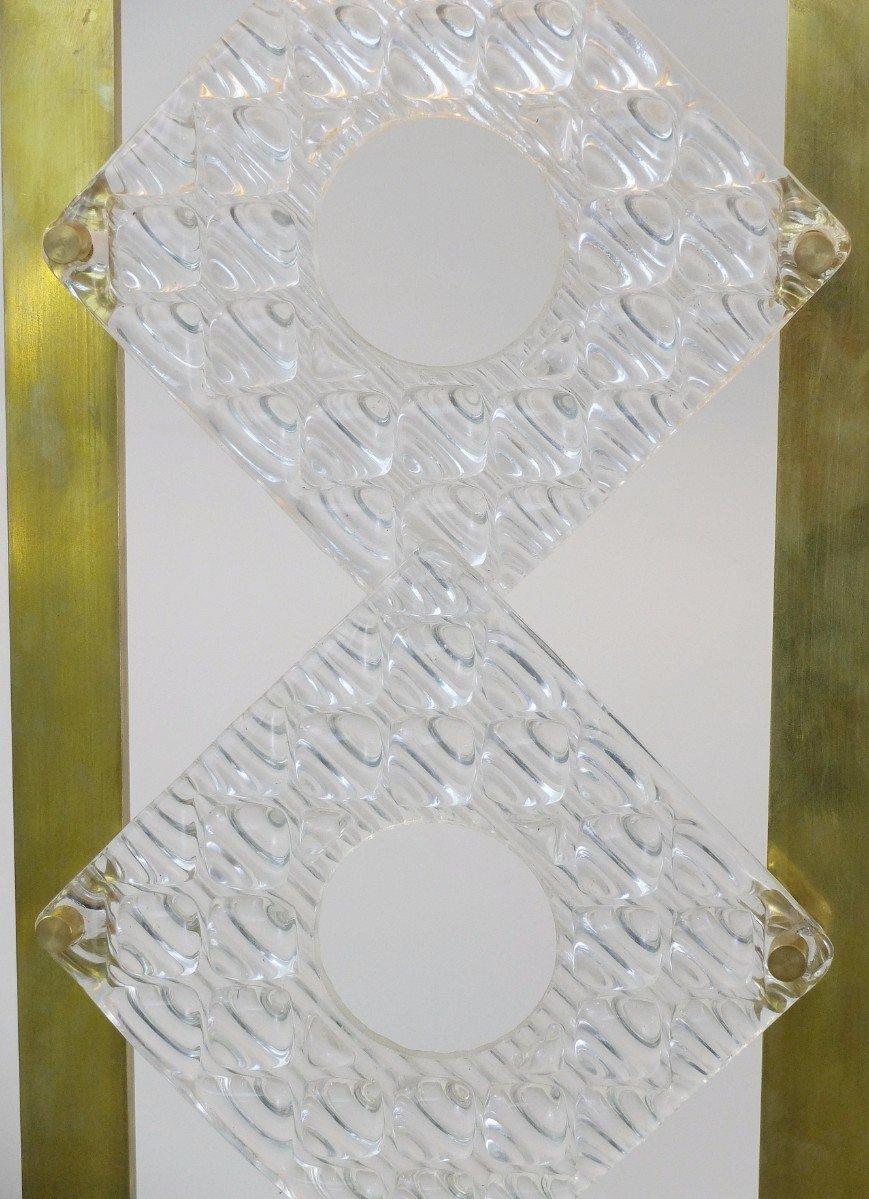 Italienische vintage tischlampen aus messing glas 2er for Tischlampen vintage