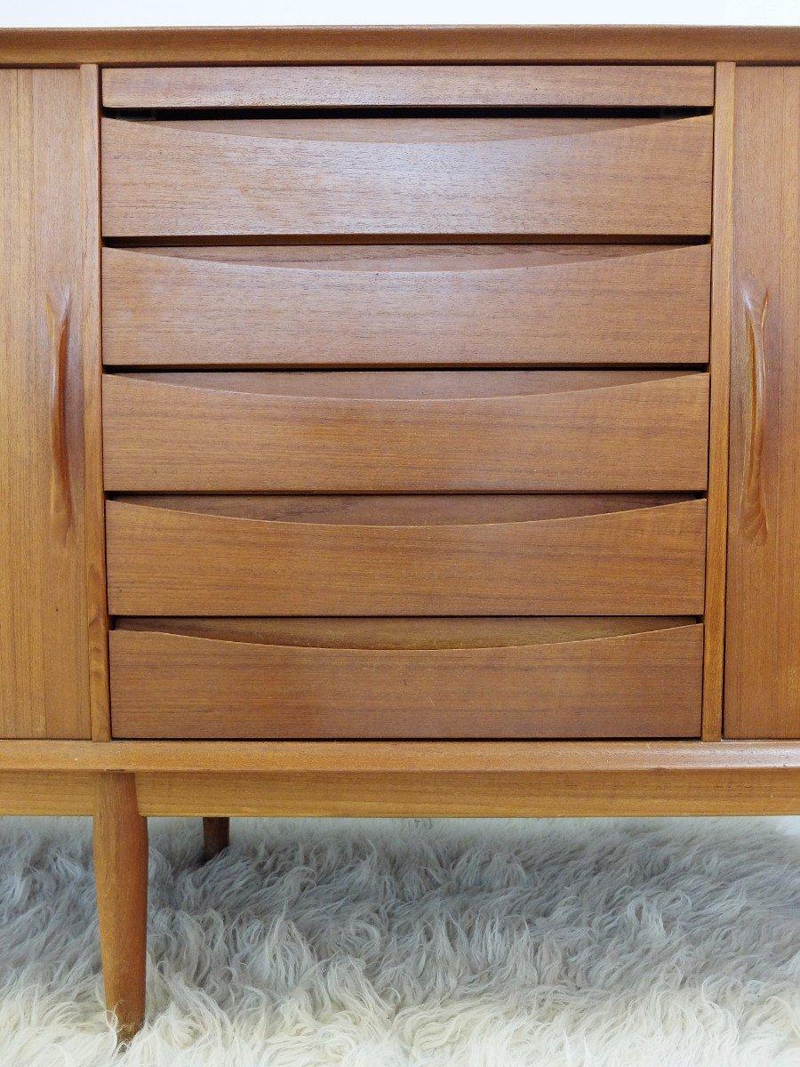 danish teak sideboard by arne vodder for sibast m bler 1960s for sale at pamono. Black Bedroom Furniture Sets. Home Design Ideas