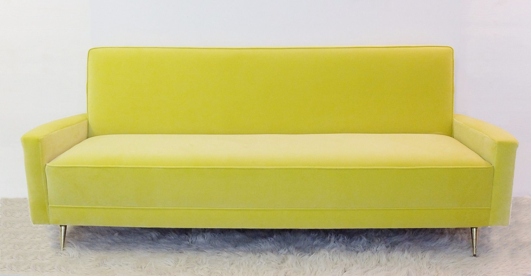 Vintage Italian Yellow Sofa For Sale At Pamono