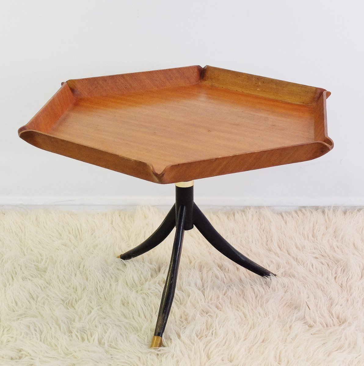 Italian Teak Hexagonal Coffee Table From Tura 1950s For Sale At Pamono