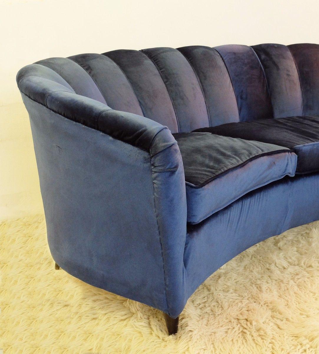 gro es italienisches vintage sofa bei pamono kaufen. Black Bedroom Furniture Sets. Home Design Ideas