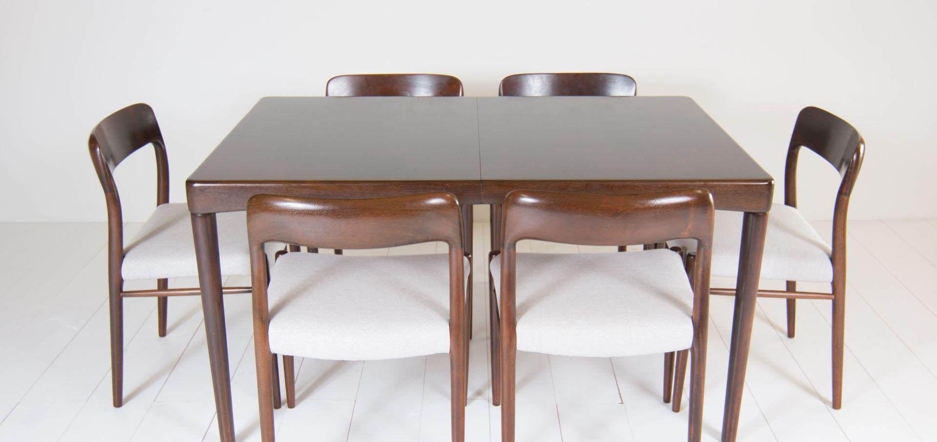 mid century teak esstisch von henry w klein f r bramin bei pamono kaufen. Black Bedroom Furniture Sets. Home Design Ideas