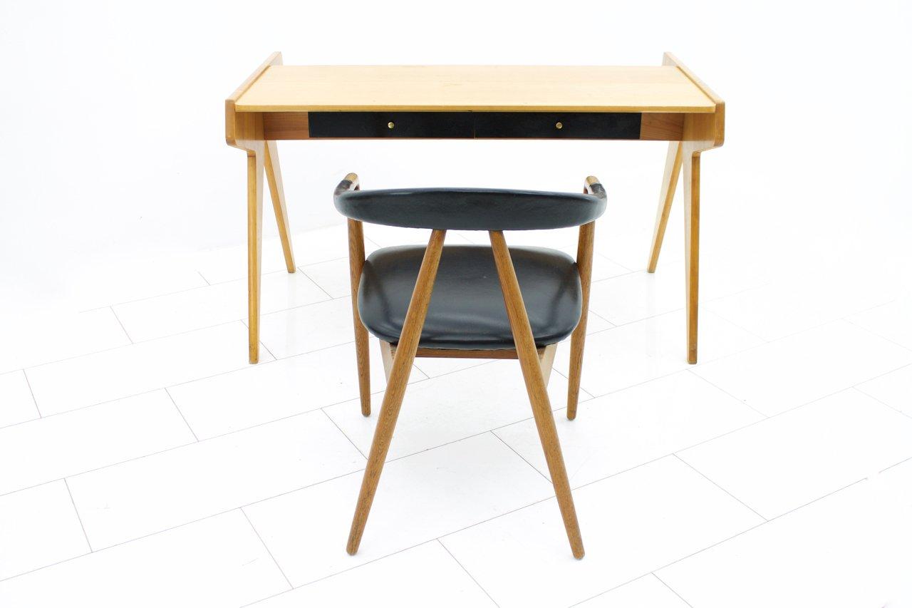 mid century schreibtisch von helmut magg f r wk m bel 1957 bei pamono kaufen. Black Bedroom Furniture Sets. Home Design Ideas
