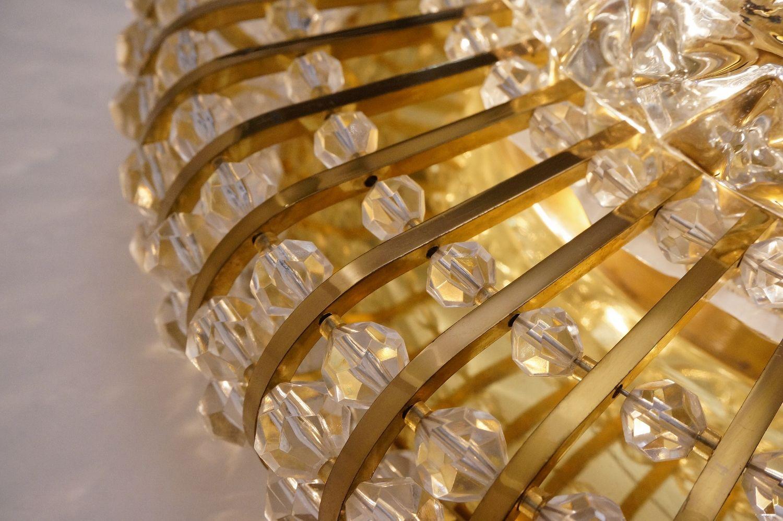 Mid century wand oder deckenlampen aus messing glas und for Wand und deckenlampen