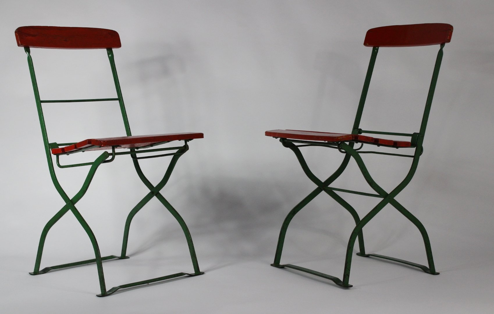 Vintage french folding garden chairs 1930s set of 2 en for Garden design 1930