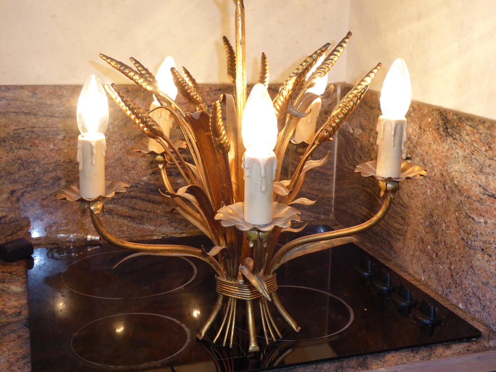 Mid century wheat sheaf coffee table irish antique dealers - Mid Century Sheaf Of Wheat Chandelier