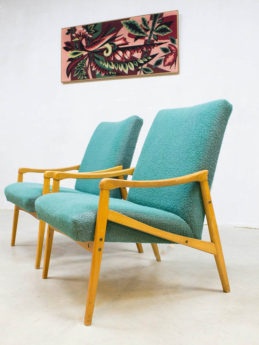 Mid Century Modern Danish Lounge Chairs 1960s Set Of 2 For Sale At Pamono