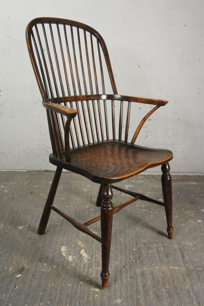 19th Century Stickback Hoop Windsor Chair for sale at Pamono