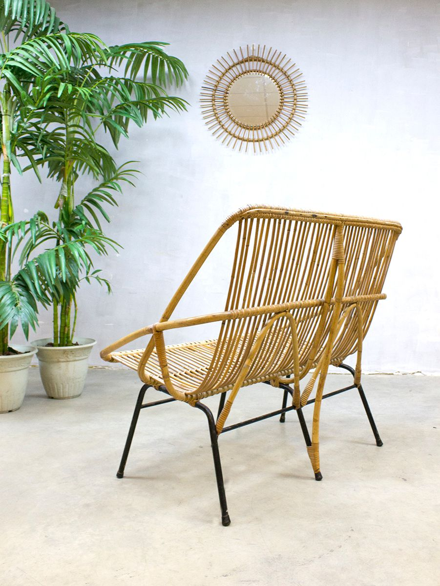 Rattan lounge  Vintage Rattan Lounge Sofa from Rohé Noordwolde, 1960s for sale at ...