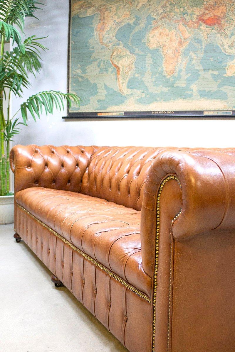 Vintage Leder Chesterfield Sofa