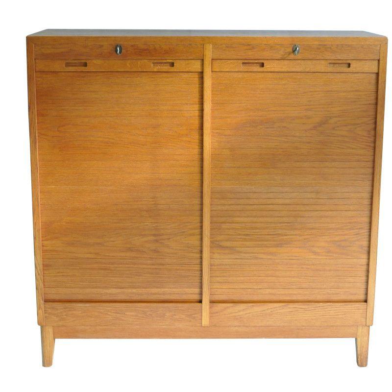 Vintage roller shutter cabinet 1960s for sale at pamono for Sideboard roller