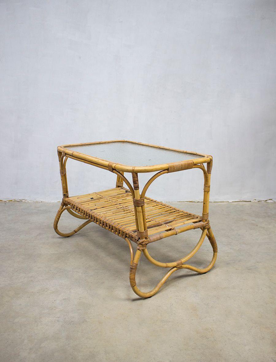 vintage rattan couchtisch von roh noordwolde bei pamono kaufen. Black Bedroom Furniture Sets. Home Design Ideas
