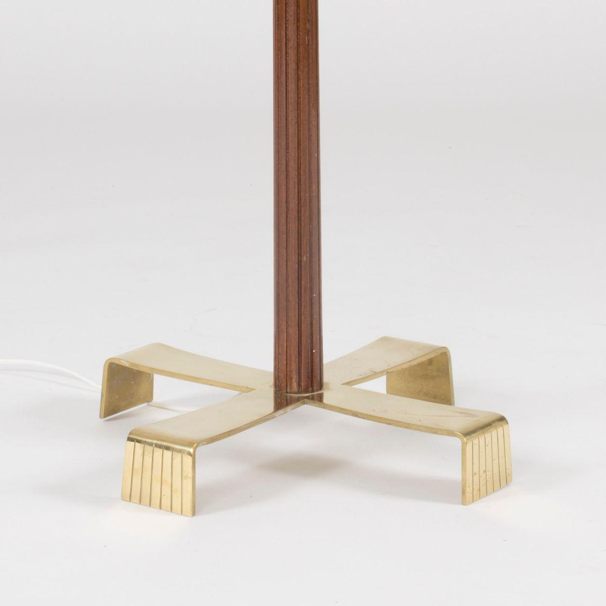 Mahogany floor lamp by hans bergstrm for atelji lyktan 1950s price per piece geotapseo Choice Image