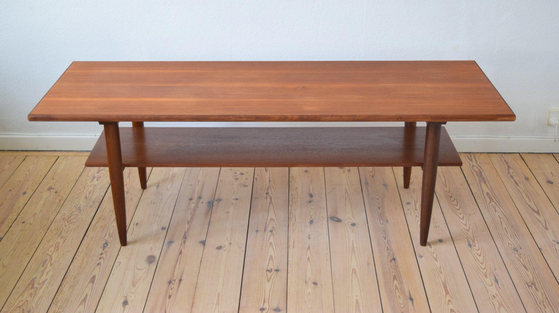 table-basse-mid-century-en-teck-avec-porte-revues-danemark-1960s-1 Frais De Table Basse soldes Des Idées