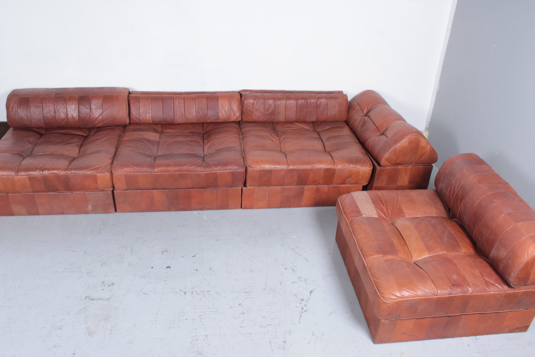Ds88 Cognac Leather Modular Sofa From De Sede 1975 For Sale At Pamono