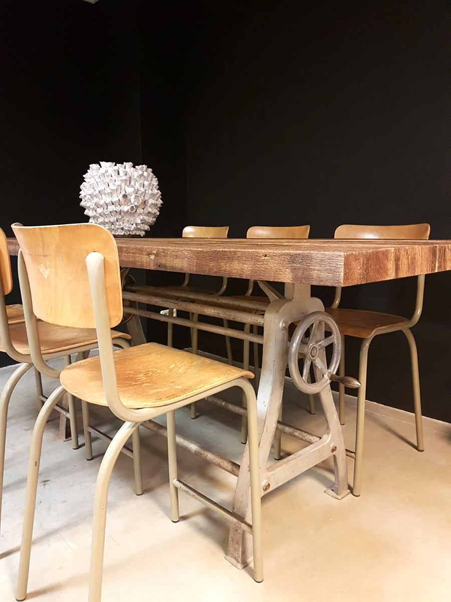 Industrial Dining Room Table vintage industrial dining table for sale at pamono
