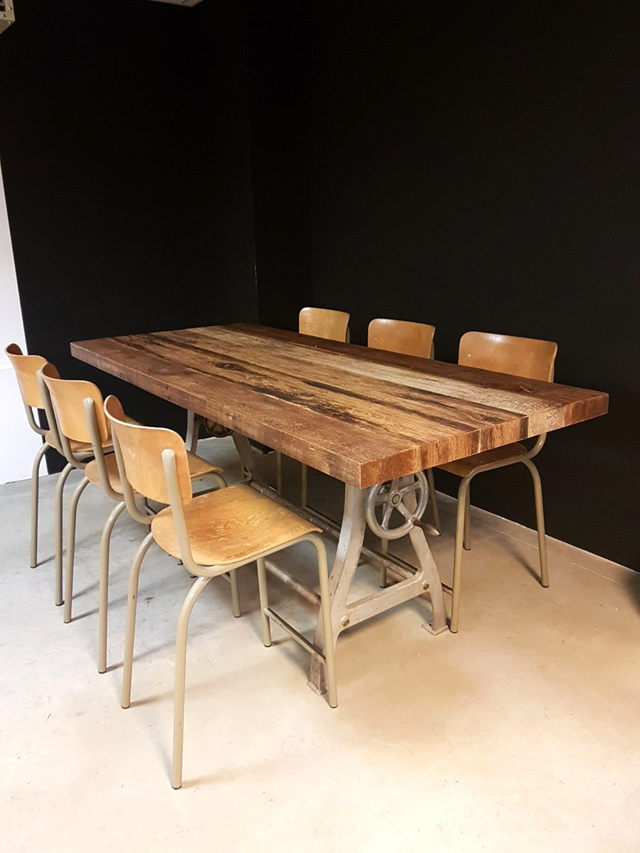 Vintage Industrial Dining Table for sale at Pamono : vintage industrial dining table 1 from www.pamono.co.uk size 900 x 1200 jpeg 541kB