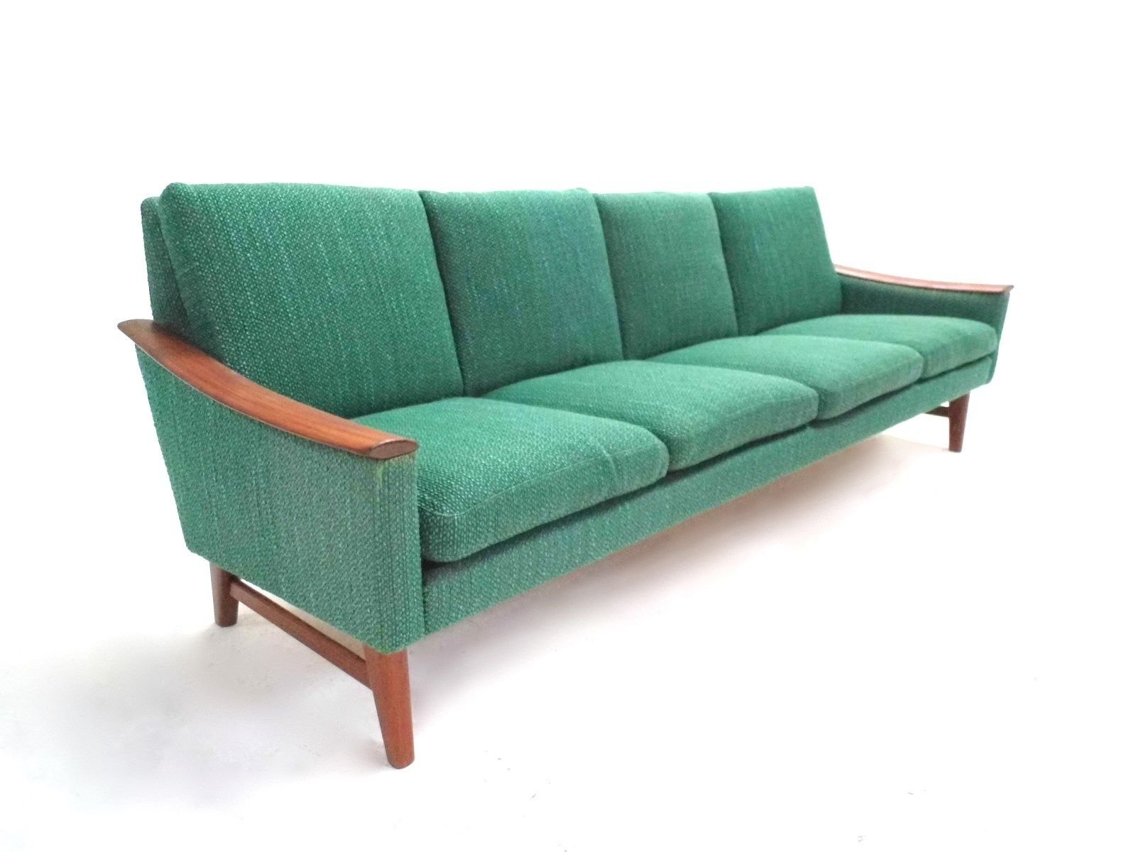skandinavisches jadegr nes vier sitzer sofa mit wollbezug. Black Bedroom Furniture Sets. Home Design Ideas