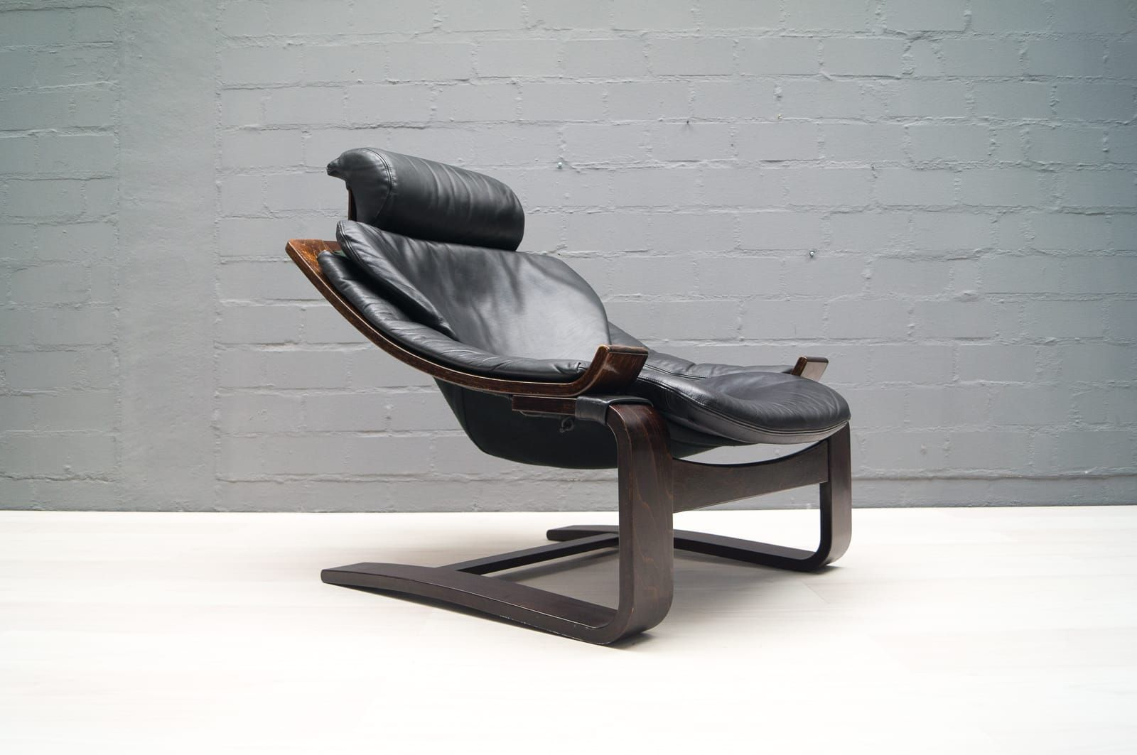 vintage leather armchair by ke fribytter for nelo m bel. Black Bedroom Furniture Sets. Home Design Ideas